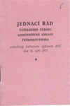 Jednací řád ÚV KSČ schválený ústředním výborem KSČ dne 16. září 1971